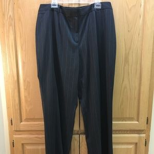 Jones New York gray pinstriped dress pants
